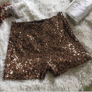 FRENCH CONNECTION cosmic sparkle sequined shorts